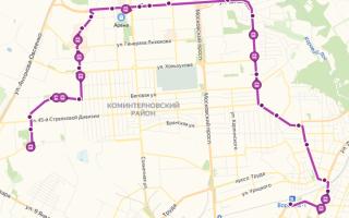 Маршрутка 108а в Воронеже: маршрут и остановки