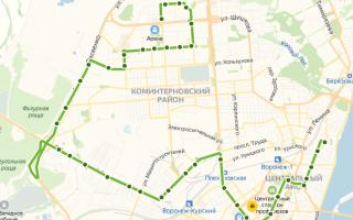 Автобус 58в в Воронеже: маршрут и остановки