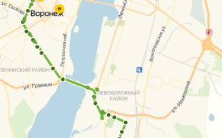 Автобус 26а в Воронеже: маршрут и остановки