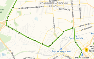 Автобус 54 в Воронеже: маршрут и остановки