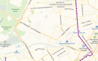 Маршрутка 37 в Воронеже: маршрут и остановки
