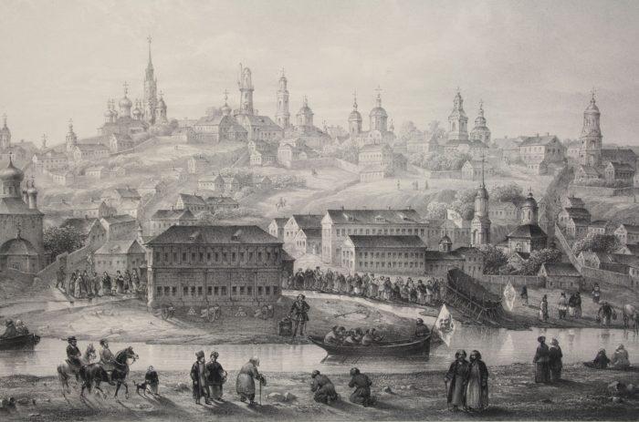 Воронеж старинная гравюра