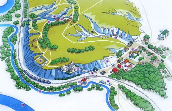 Карта заповедника Дивногорье
