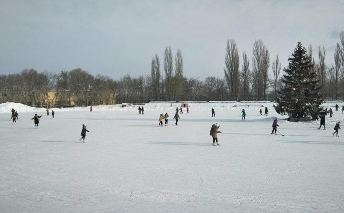 Каток в парке Динамо