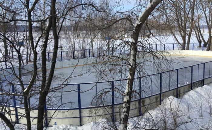 Каток на стадионе Локомотив