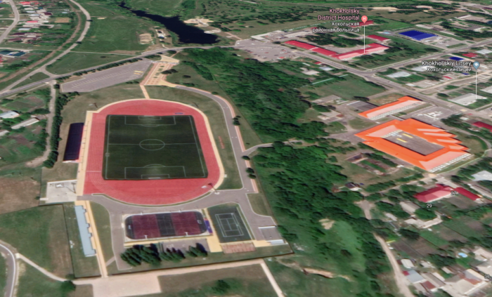 Стадион в Хохольском