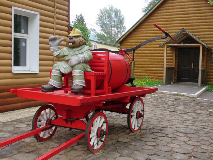 Бобер пожарник. Фото: Илья Буяновский