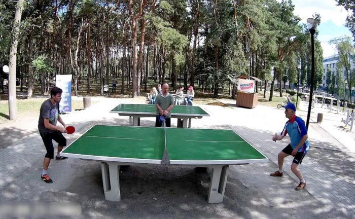 Настольный теннис в парке Алые паруса